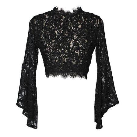 lace black vrop top