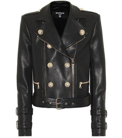 Leather Jacket | Balmain - Mytheresa