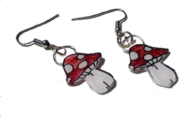 Yudinarts Mushroom Earrings
