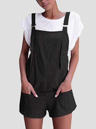 black-shoulder-strap-pockets-sweet-cute-casual-overall-pants-short-jumpsuit.jpg (600×800)