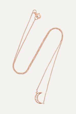 Rose gold Mini Crescent 18-karat rose gold diamond necklace | Andrea Fohrman | NET-A-PORTER