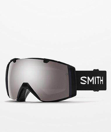 Smith I/O Black Sun Platinum Mirror & Storm Rose Snowboard Goggles | Zumiez
