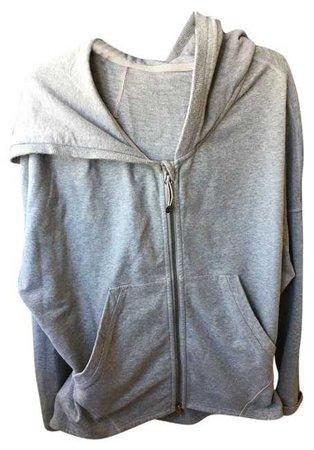 Lululemon Grey Drawstring Activewear Hoodie Size 4 (S, 27) - Tradesy