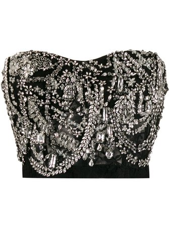 Alexander Mcqueen Crystal-Embellished Bustier Top | Farfetch.com