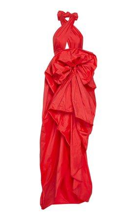 Martin Grant Haltered Neck Silk Dress