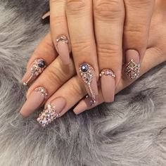 Pinterest - Brand nails, Pink nails, Fake nails, Nail design, nail art, False Nails, Fashion nails, rhinestones   Products
