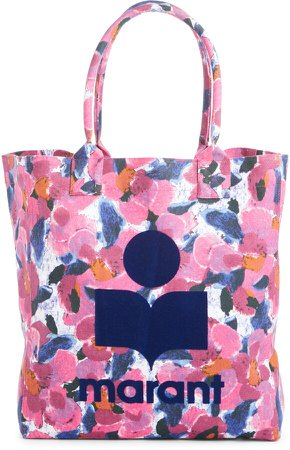 Yenky Floral Logo Canvas Tote