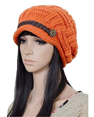 winter knitted hats orange - Google Search