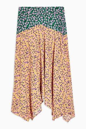 PETITE Multi Mixed Floral Print Skirt | Topshop