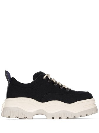 Eytys Angel leather-trimmed Canvas Sneakers - Farfetch