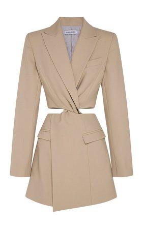Chiara Cutout Wool Mini Dress by Anna Quan | Moda Operandi