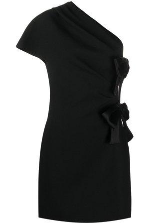 Saint Laurent bow-detail Mini Dress - Farfetch