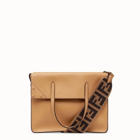 Beige leather bag - FENDI FLIP LARGE | Fendi