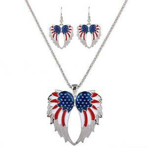 American flag earings