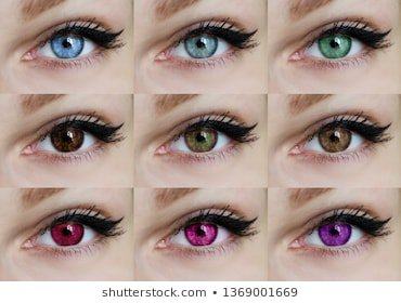 blue green brown pink red purple eyes contact