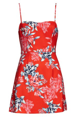 French Connection Coletta Printed floral Sleeveless Minidress | Nordstrom
