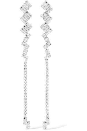 Kenneth Jay Lane   Silver-tone cubic zirconia earrings   NET-A-PORTER.COM