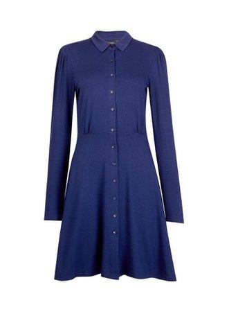 Navy Jersey Shirt Dress | Dorothy Perkins