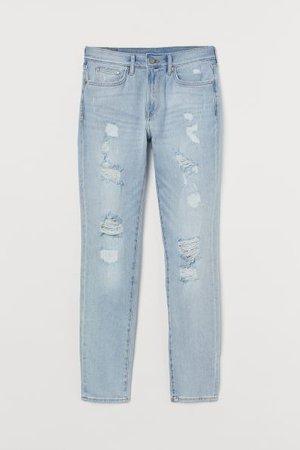 Trashed Skinny Jeans - Light denim blue - Men | H&M US
