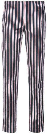 stripe print trousers