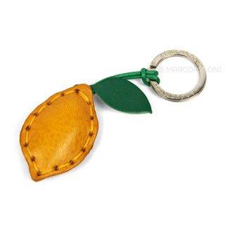 Lemon Italian Leather Key Chain, LIMONE   Marcopoloni