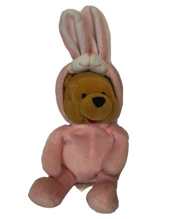 "THE DISNEY STORE Winnie the Pooh 8"" Bean Bag Plush Toy Easter Bunny | eBay"