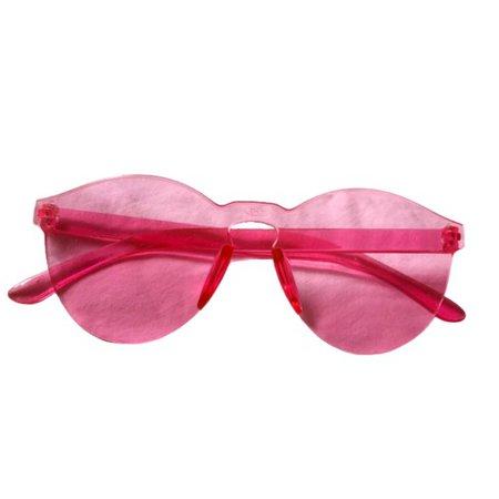 transparent pink sunglasses