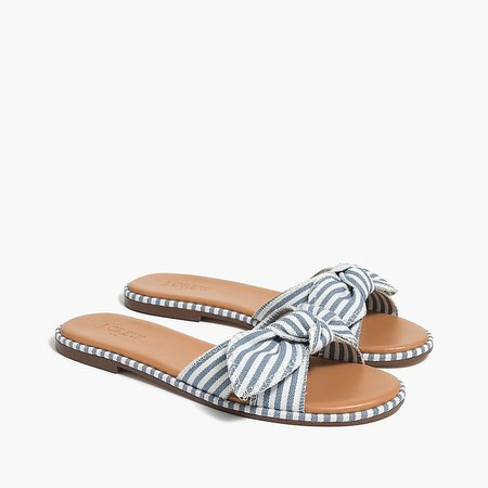 J.Crew Factory: Striped Knot Slide Sandals For Women