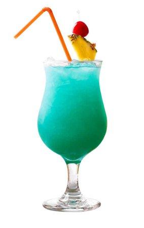 Tropical Aqua-Teal Cocktail