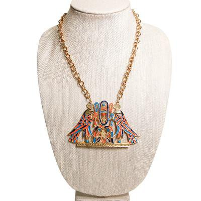 Accessocraft N.Y.C. Egyptian Winged Falcon Statement Necklace - Vintage Meet Modern