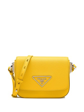 Prada Logo Plaque Crossbody Bag - Farfetch