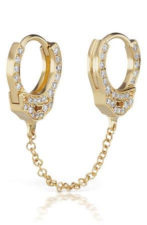 Maria Tash 6.5mm Medium Chain Diamond Handcuff Clickers | Nordstrom