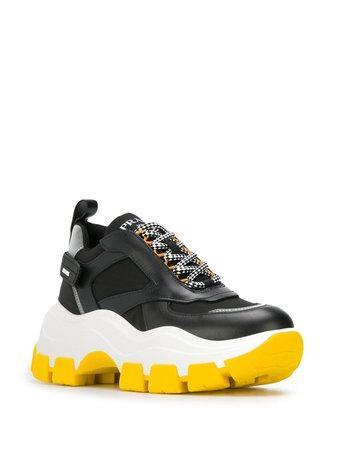 Prada Pegasus Chunky Sneakers | Farfetch.com