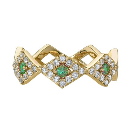 Lucia Pave Band with Colored Gemstones - GiGi Ferranti Jewelry