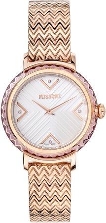 Chevron Joy Diamond Bracelet Watch, 37mm