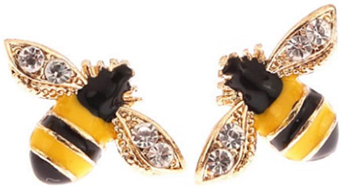 Amazon.com: CRB Fashion Sparkle Rhinestone Bumble Bee Clip On Earrings (Bee): Clothing