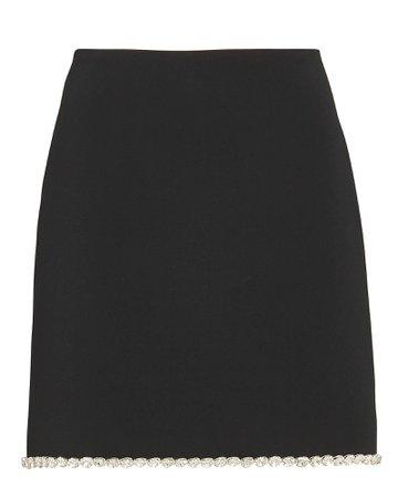 David Koma Crystal-Trimmed Cady Mini Skirt | INTERMIX®