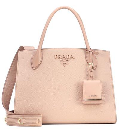 Monochrome leather shoulder bag