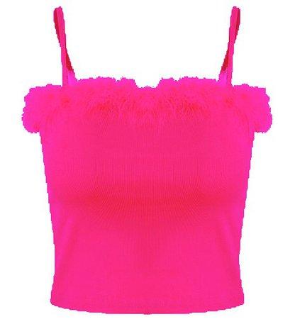 Hot Pink Fur Top