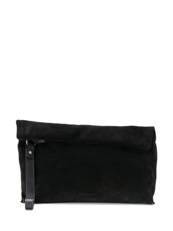 Ann Demeulemeester Suede Rolled Tote Bag 19028402333 Black | Farfetch
