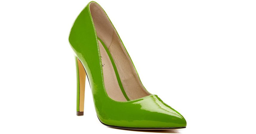 Fashmates Outfit Inspiration: Green lime heels
