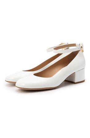 Женские белые кожаные туфли ribbon GIANVITO ROSSI — купить за 59600 руб. в интернет-магазине ЦУМ, арт. G22024.45RIC.VERBIAN