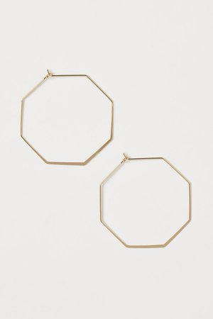 Octagonal Earrings - Gold-colored - Ladies | H&M US