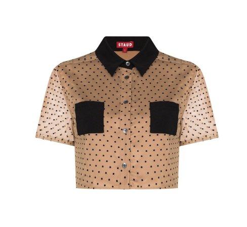 staud cropped shirt