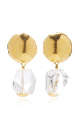 Gold-Plated And Crystal Earrings by Annie Costello Brown | Moda Operandi