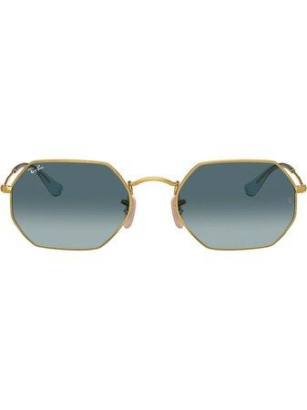 Ray-Ban RB3556N Octagonal Sunglasses - Farfetch