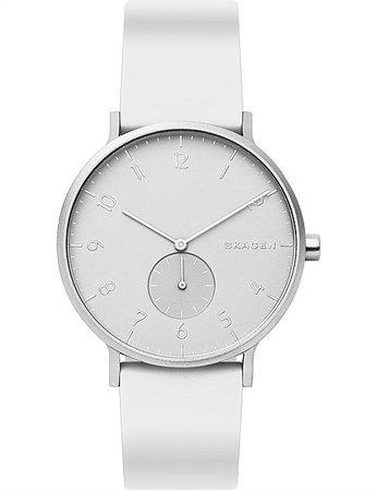 Skagen | Buy Skagen Watches & Accessories Online | David Jones - Aaren Kulor White Analogue Watch
