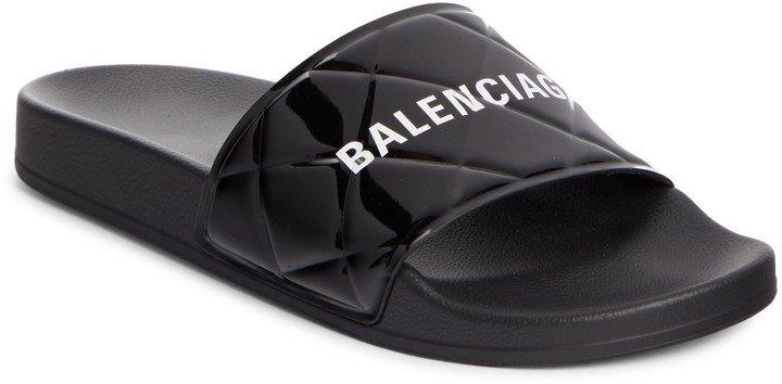 Patent Leather Slide Sandal