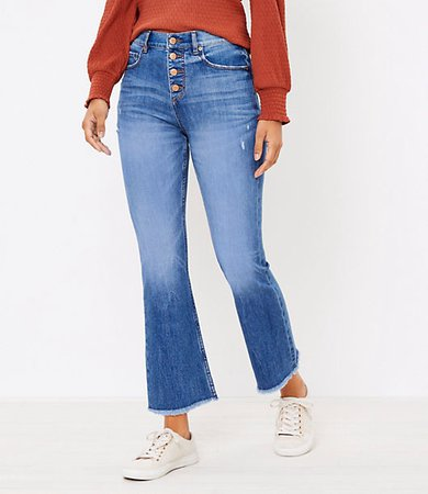Tall Flare Crop Jeans in Authentic Light Indigo Wash