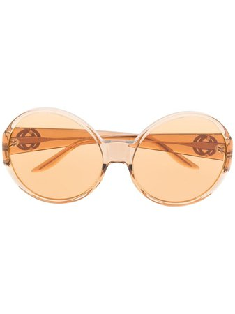 Gucci Eyewear round-frame tinted sunglasses